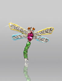 Emily Dragonfly Pin - Leaf