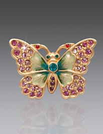 Angelly Petite Butterfly Pin - Rose Celadon