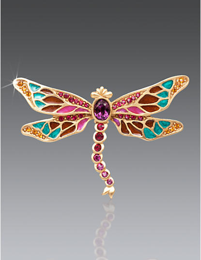 Breea Petite Dragonfly Pin - Bouquet