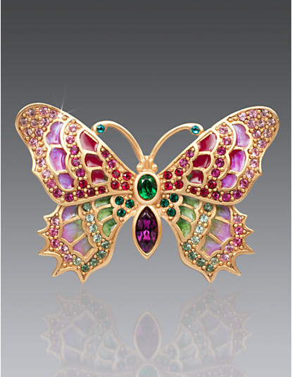Irie Embellished Butterfly Pin - Rose Celadon