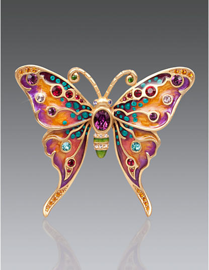 Arlyn Grand Butterfly Pin - Bouquet