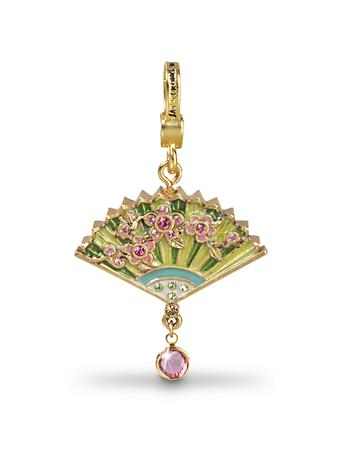 Lucille Chinoiserie Fan Charm - Chinoiserie