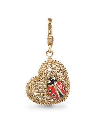 Marla Ladybug on Heart Charm - Jewel