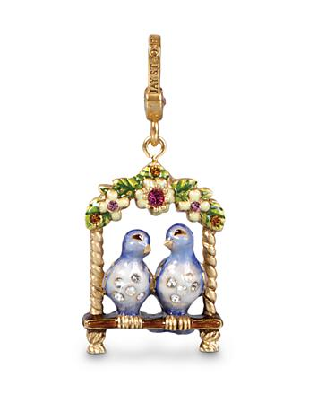 Lucy & Carl Lovebirds Charm - Fleurs