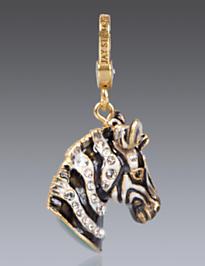 Bruce Zebra Charm - Natural