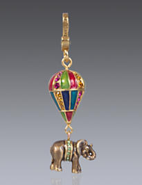 Howie Elephant on Balloon Charm - Jewel
