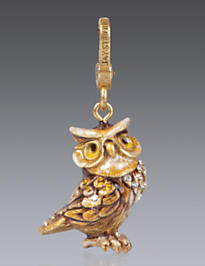 Albert Owl Charm - Natural