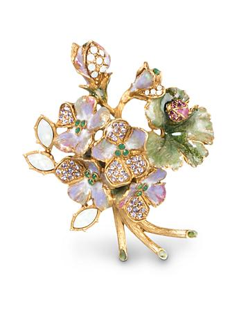 Jocelyn Geranium Pin - Opal