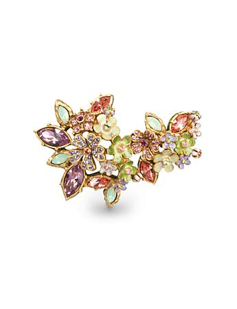 Naomi Floral Cluster Pin - Opal