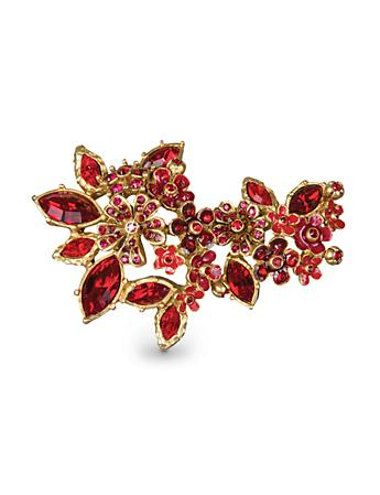 Naomi Floral Cluster Pin - Siam