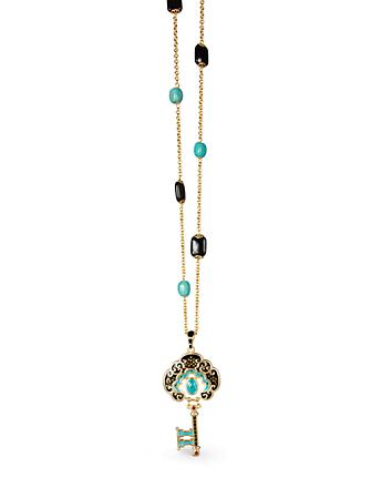 Merrill Key Pendant Necklace - Turquoise