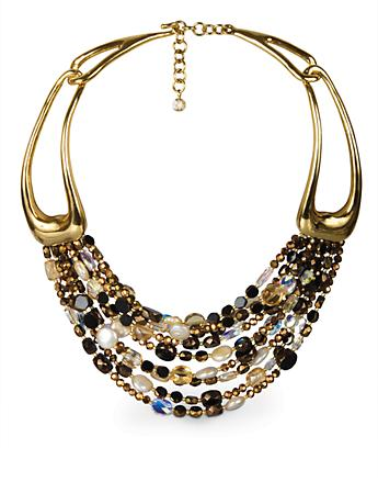 Victoria Nine-Strand Clasp Necklace - Bronze