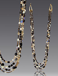 Four-Strand Long Necklace - Bronze