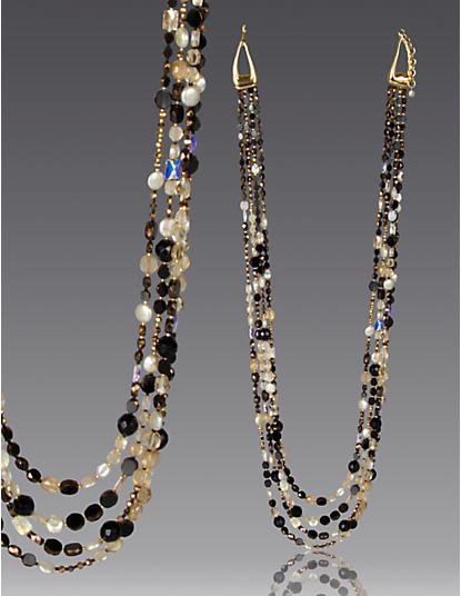 Kaylina Four-Strand Long Necklace - Bronze