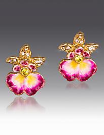 Anastasia Orchid Post Earrings - Flora