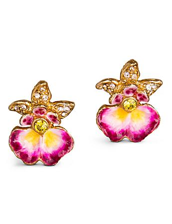 Anastasia Orchid Post Earrings - Flora