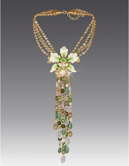 Isadora Orchid Necklace - Flora