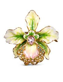 Anita Small Orchid Pin - Flora
