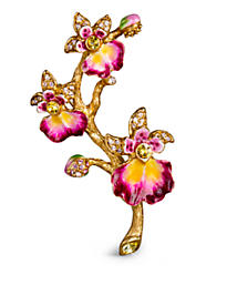 Halie Orchid Branch Pin - Flora