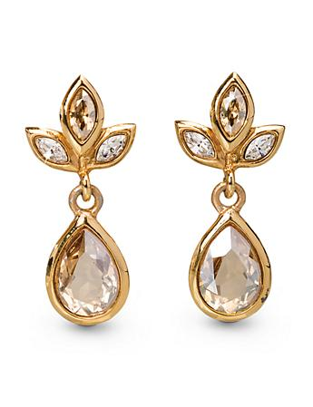 Pear Drop Post Earrings - Golden