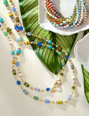 "42"" Beaded Necklace - Flora"