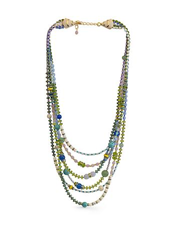 Six-Strand Beaded Necklace - Flora