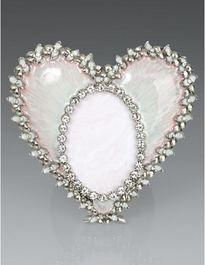 Dominique Enamel Heart Frame - Pale Pink