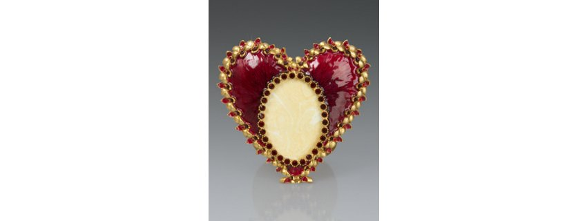 Dominique Enamel Heart Frame - Siam