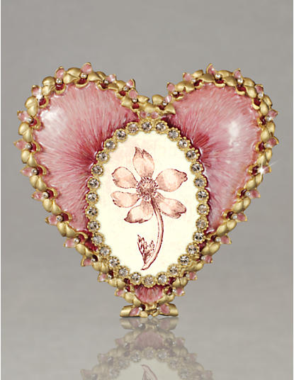 Dominique Enamel Heart Frame - Azalea