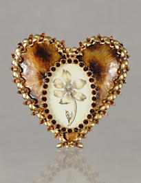 Dominique Enamel Heart Frame - Tortoise