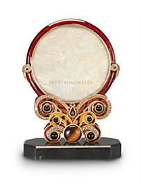 Evelyn Round Jeweled Frame - Tortoise