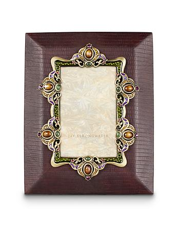 "Alejo Leather 4"" x 6"" Frame - Spice"