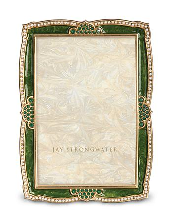 "Graham Scalloped 4"" x 6"" Frame - Leaf"