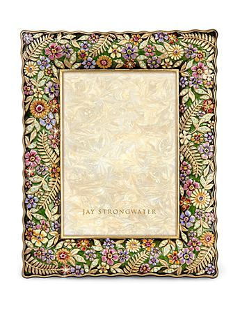 "Florence Ruffle Edge Floral 5"" x 7"" Frame - Flora"