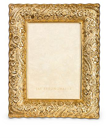 "Katerina Ruffle Edge Floral 5"" x 7"" Frame - Gold"
