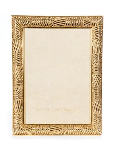 "Gabriel Striped  5"" x 7"" Frame - Gold"