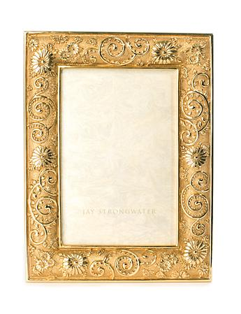 "Viola Flower Scroll 4"" x 6"" Frame - Gold"