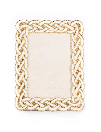 "Quinn Braided 3.5"" x 5"" Frame - Golden"