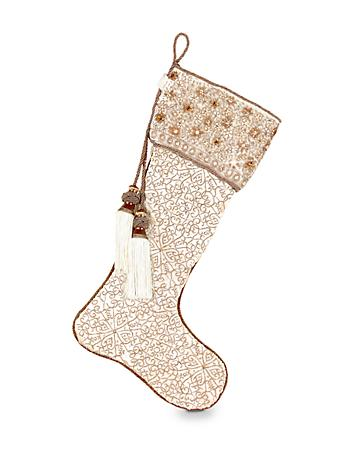 Floral Field Stocking - Golden