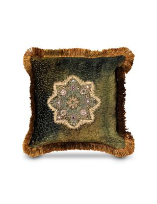 "Medallion 14"" x 14"" Pillow - Olivine"