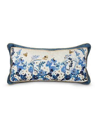 "Poppy 11"" x 22"" Pillow - Delft Garden"