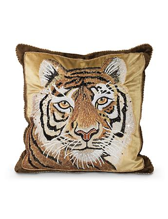 "Tiger 18"" x 18"" Pillow - Natural"