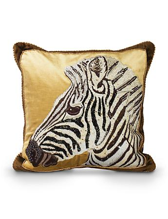 "Zebra 18"" x 18"" Pillow - Natural"