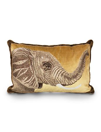 "Elephant 16"" x 26"" Pillow - Natural"