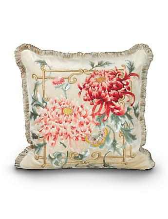 "Chrysanthemum 20"" x 20"" Pillow - Chinoiserie"