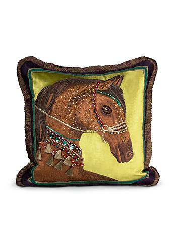 "Horse 20"" x 20"" Pillow - Jewel"
