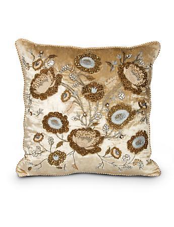 """Bouquet 20"""" x 20"""" Pillow - Golden"""
