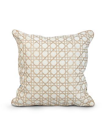 """Trellis 20"""" x 20"""" Pillow - Delft Garden"""