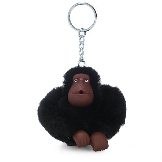 Sven Monkey Keychain,Black,large