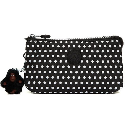 Creativity Large Pouch,White Dot,large